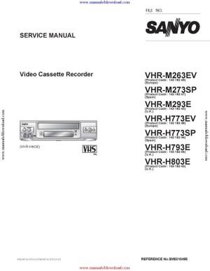 Sanyo VHRH793E Service Manual