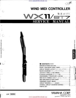 Yamaha BT7 Service Manual