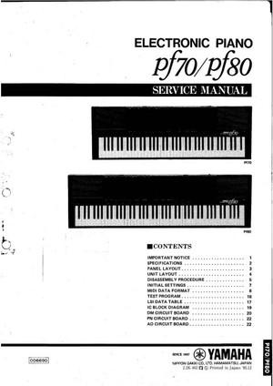 Yamaha PF80 Service Manual