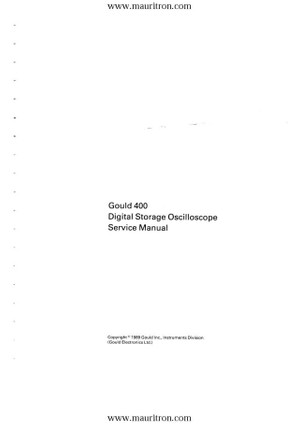 Gould DSO 4xx Service Manual