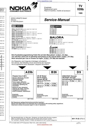Nokia 21C51UK Service Manual