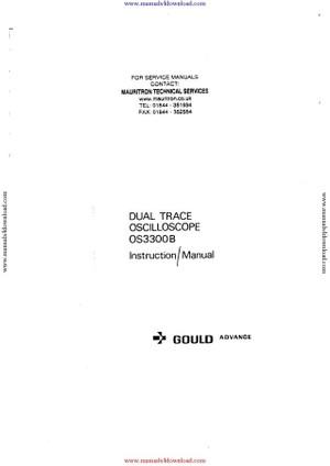 Gould OS3300B Manual