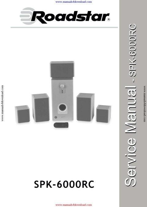 Roadstar SPK6000RC Service Schematics