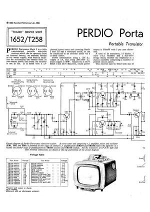 Perdio Portorama Mk 2 Service Sheets