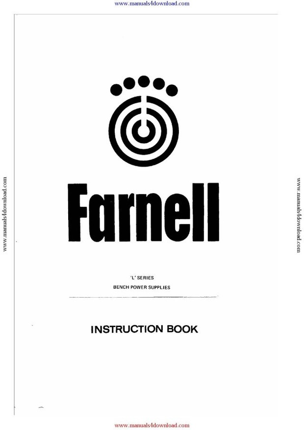 Farnell L30/2 Instruction Manual with Schematics