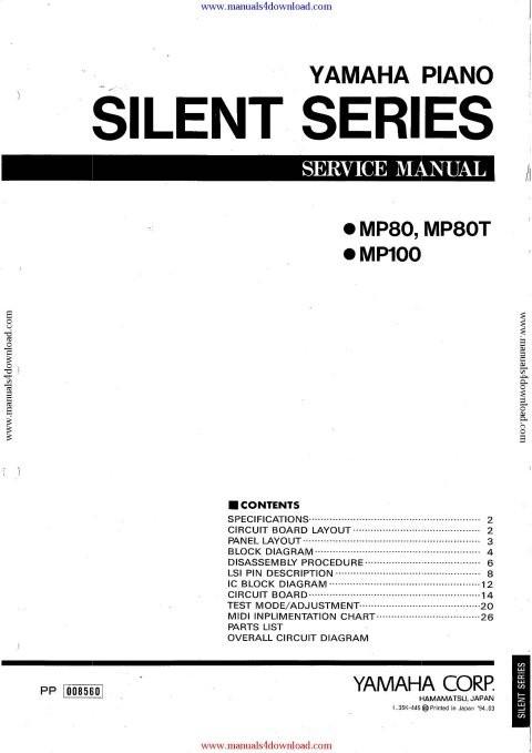 Yamaha MP100 Service Manual