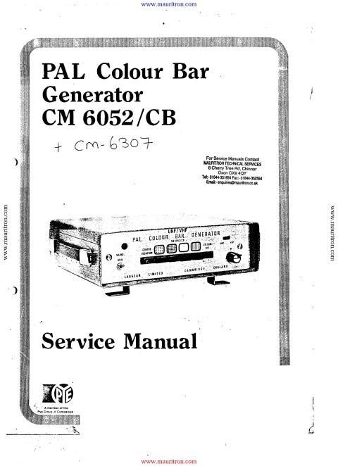 Labgear CM6052CB Service Manual