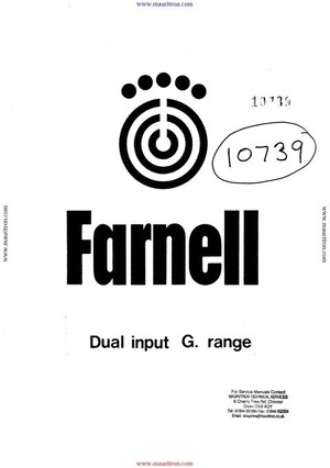 Farnell G6-60 Instruction Manual