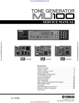 Yamaha MU100 Service Manual