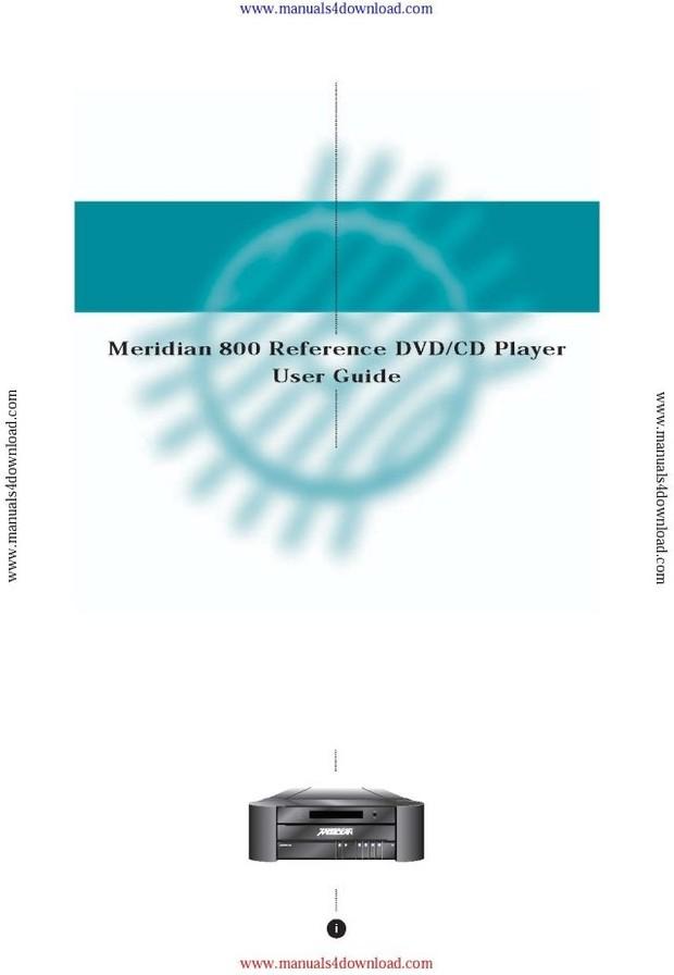 Meridian 800 Operating Guide