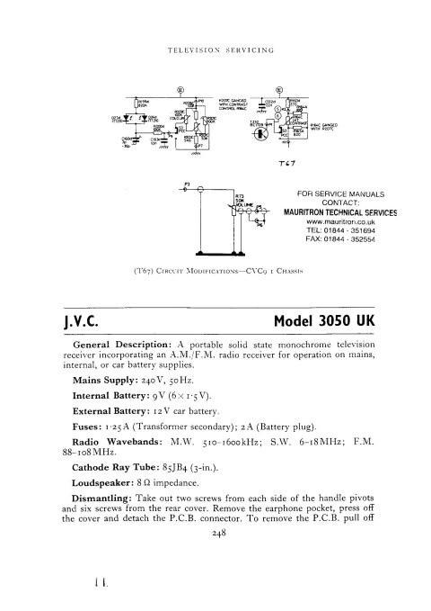 JVC 3050 Service Schematics