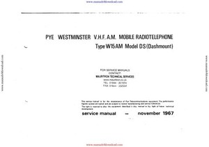 Pye W15AM Service Manual