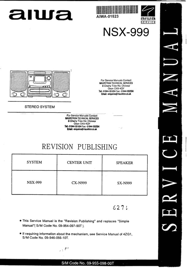 Aiwa NSX999 Service Manual