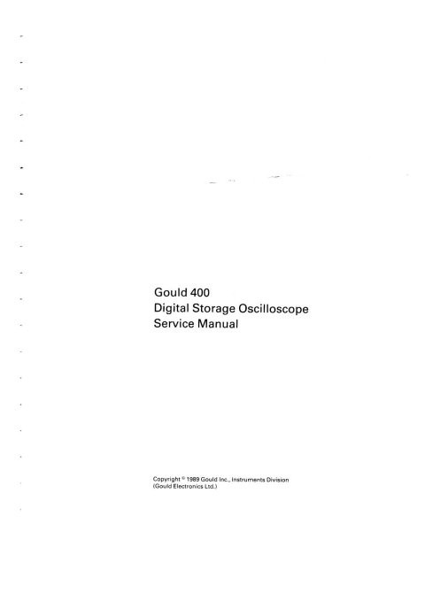 Gould DSO450 Service Manual