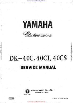 Yamaha DK40C Service Manual