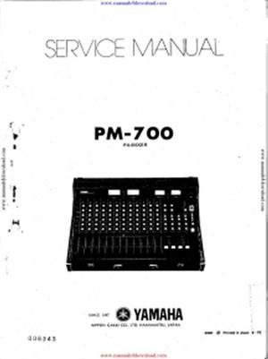 Yamaha PM700 Service Manual