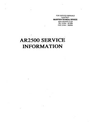 AOR AR2500 Service Manual
