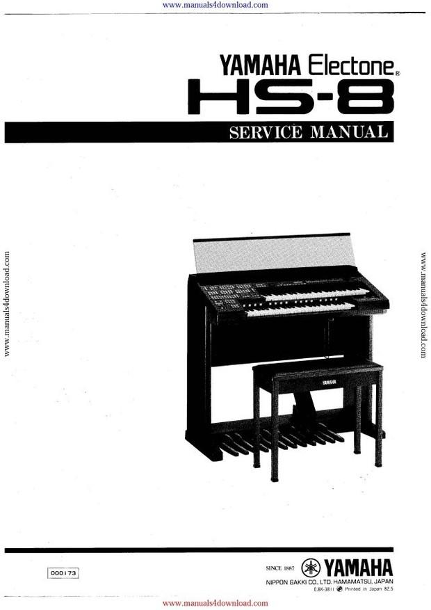 Yamaha HS8 Service Manual