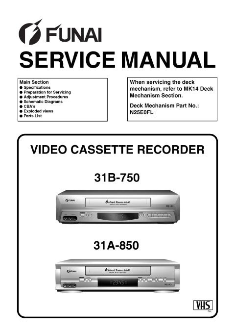 Funai 31A-850 Service Manual