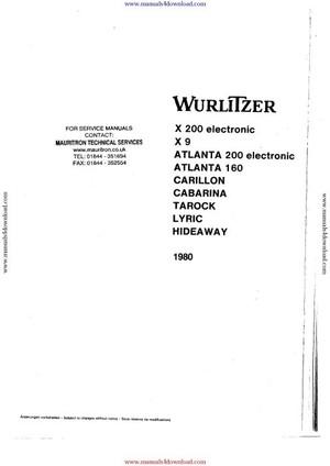 Wurlitzer Atlanta 160 Service Manual