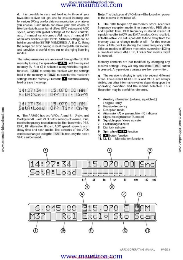 AOR AR7030 Instructions and Schematics