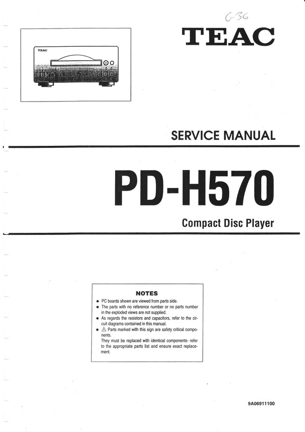 Teac PD-H570 Service Manual