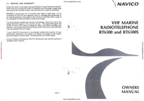 Navico RT6500 Operating Guide
