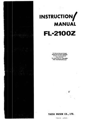 Yaesu FL2100Z Instruction Manual