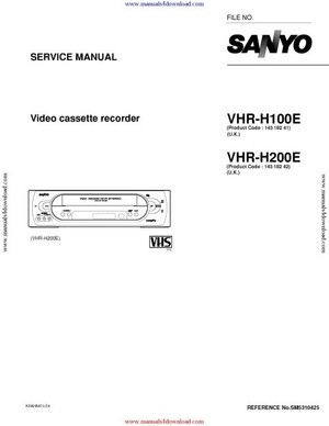 Sanyo VHRH200E Service Manual