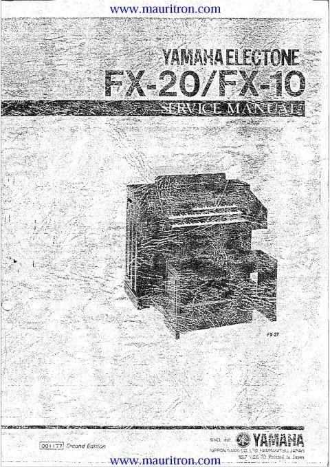 Yamaha FX20 Service Manual