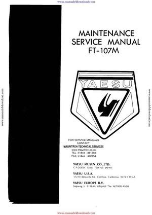 Yaesu FT107M Service Manual