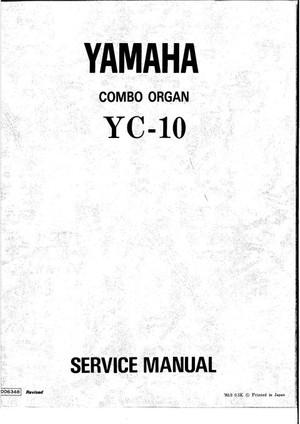 Yamaha YC10 Service Manual