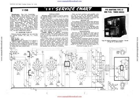 Pye Type 47 Service Schematics