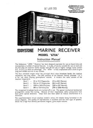 Eddystone 670A. S670A. Instructions