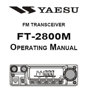 Yaesu FT2800M Operating Guide