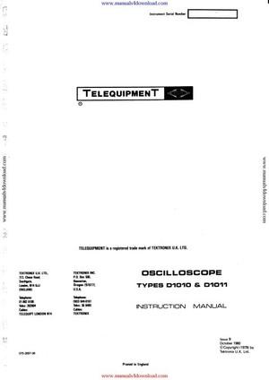 Telequipment D1011 Instruction Manual