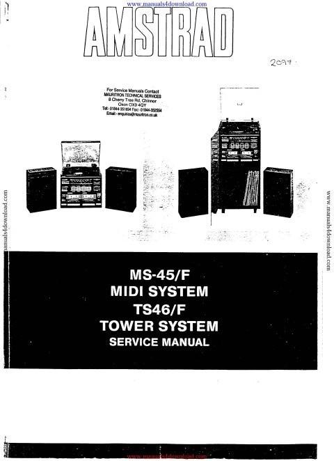 Amstrad MS45 Service Manual