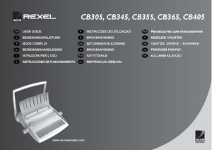 Rexel CB305. CB345. CB355. CB365. CB405 Operating Guide