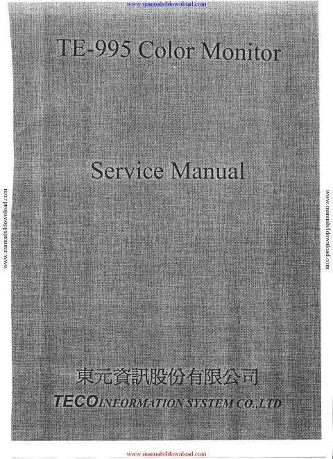 Teco TE995 Service Manual