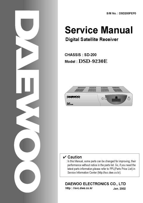 Daewoo DSO9230 Service Manual