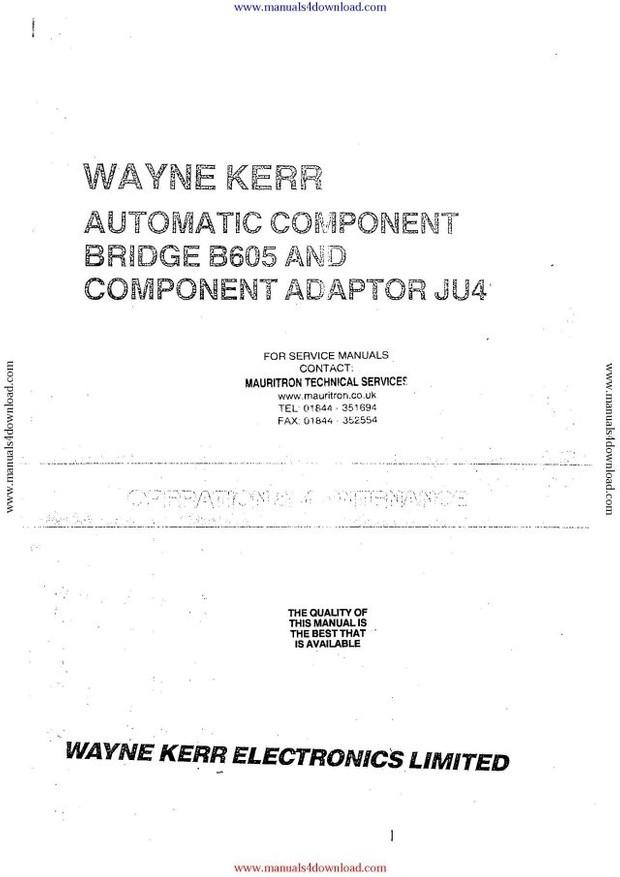 Wayne Kerr B605 Component Bridge