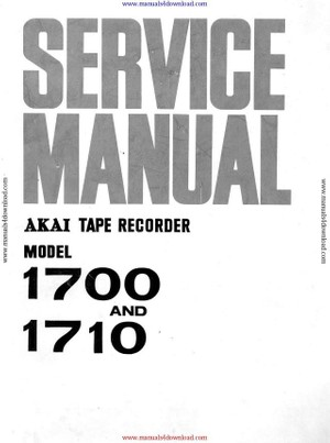 Akai 1700 1710 Service Manual