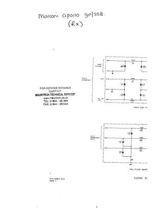 Marconi Apollo GB SSB Service Schematics