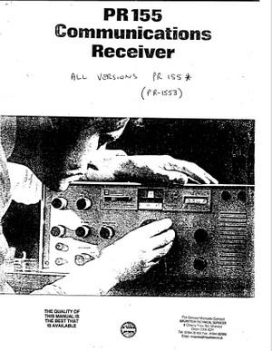 Plessey PR1553 Service Manual