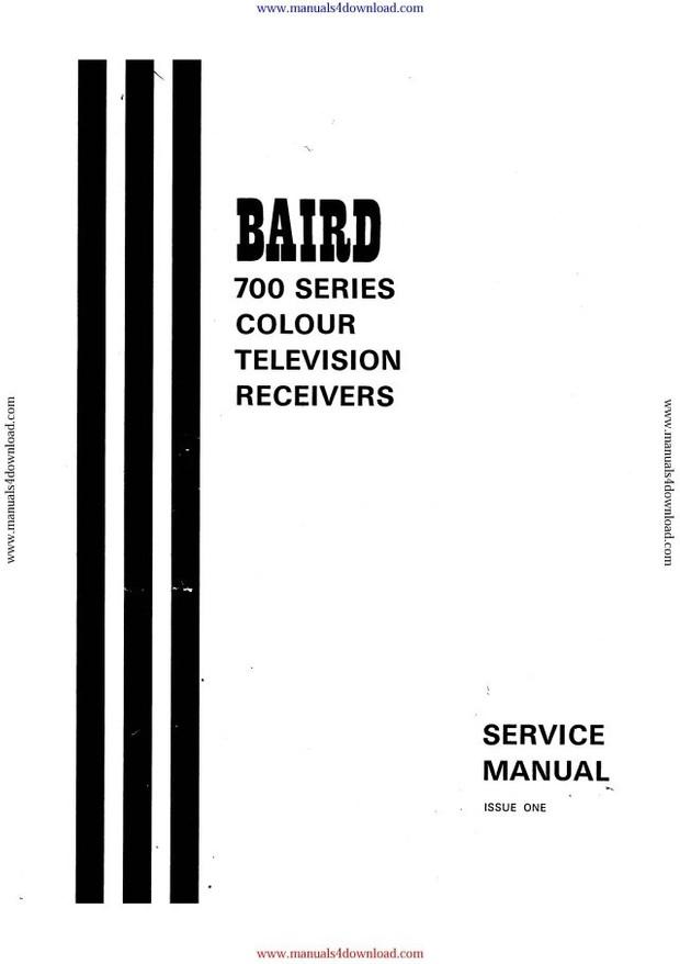 Baird 700 Series Service Manual