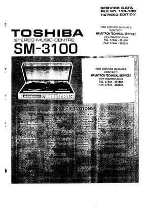 Toshiba SM3100 Service Manual