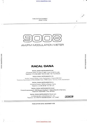 Racal 9008 Instruction Manual