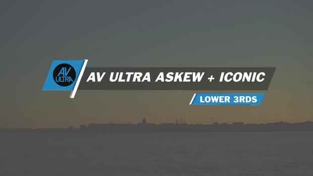 AV-Ultra Askew + Iconic Lower third Templates for FCPX