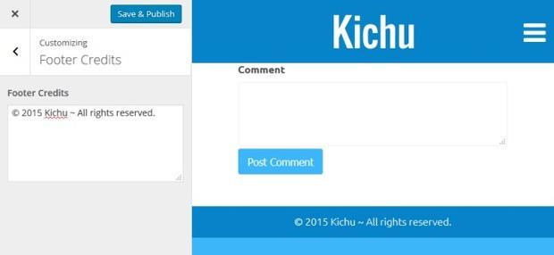 Kichu Footer Credits Extension