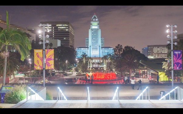 0027 LOS ANGELES DOWNTOWN CITY HALL NIGHT